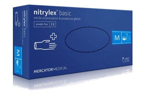 6e4ffd81da7b32 Rękawice nitrylowe NITRYLEX BASIC BLUE niebieskie bezpudrowe niejałowe  200szt